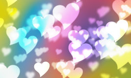 Fundo das cores dos corações Fotografia de Stock Royalty Free