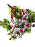 Fundo das decorações do Natal para cartões das felicitações Fotografia de Stock Royalty Free