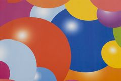 Fundo das esferas da cor diferente. imagens de stock royalty free