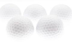 Fundo das esferas de golfe Imagens de Stock
