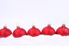 Fundo das esferas do Natal Imagens de Stock Royalty Free