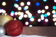 Fundo das esferas do Natal Fotografia de Stock