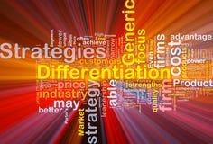 Fundo das estratégias da diferenciação Foto de Stock