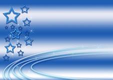 Fundo das estrelas azuis Ilustração do Vetor