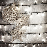 Fundo das estrelas de prata Foto de Stock Royalty Free