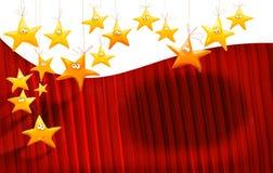 Fundo das estrelas dos desenhos animados Fotografia de Stock Royalty Free