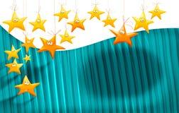 Fundo das estrelas dos desenhos animados Fotografia de Stock