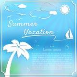 Fundo das férias de verão Fotos de Stock