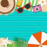 Fundo das férias de verão Férias da estação, fim de semana Vetor ilustração do vetor