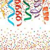 Fundo das flâmulas e dos confetes do carnaval Fotos de Stock