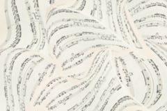 Fundo das folhas de música 3D Notas musicais Vista superior Fotografia de Stock