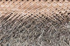 Fundo das folhas de palmeira secas encadernadas Fotografia de Stock Royalty Free