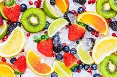 Fundo das frutas frescas imagens de stock royalty free