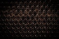 Fundo das garrafas de vinho fotografia de stock