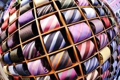 Fundo das gravatas do homem de negócio Fotografia de Stock