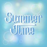 Fundo das horas de verão Ilustração Royalty Free