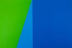 Fundo das hortaliças, o azul e o ciano da cor do papel fotografia de stock