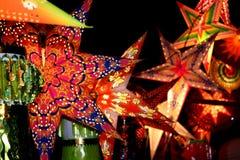 Fundo das lanternas Fotografia de Stock Royalty Free