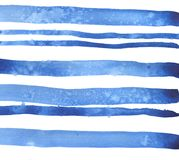 Fundo das listras azuis Ilustração da aguarela ilustração royalty free