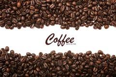Fundo das listras dos feijões de café fotografia de stock