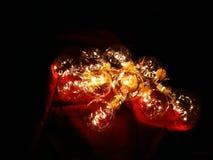Fundo das luzes de Natal imagens de stock