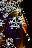 Fundo das luzes de Natal Foto de Stock Royalty Free
