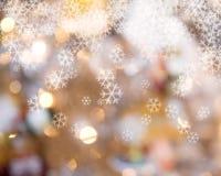 Fundo das luzes de Natal Fotografia de Stock Royalty Free