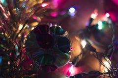 Fundo das luzes de Natal Imagem de Stock Royalty Free