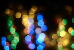 Fundo das luzes no bokeh Fotos de Stock Royalty Free