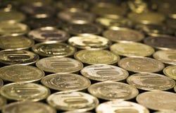 Fundo das moedas Fotografia de Stock Royalty Free