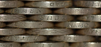 Fundo das moedas Foto de Stock Royalty Free