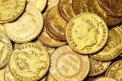 Fundo das moedas de ouro Imagens de Stock