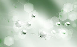 Fundo das moléculas Foto de Stock Royalty Free