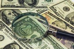 Fundo das notas de banco do dólar Foto de Stock Royalty Free