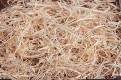 Fundo das ondas de madeira douradas Imagem de Stock Royalty Free