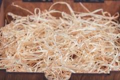 Fundo das ondas de madeira douradas Fotografia de Stock Royalty Free