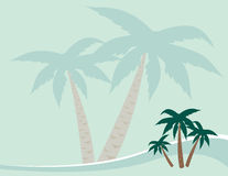 Fundo das palmeiras Imagens de Stock Royalty Free
