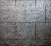Fundo das placas de armadura do metal fotos de stock