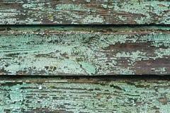 Fundo das placas de madeira velhas pintadas com pintura de água-marinha Fotos de Stock Royalty Free