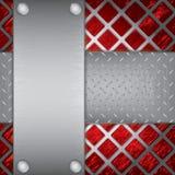 Fundo das placas de metal Imagens de Stock Royalty Free