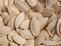 Fundo das sementes de abóbora Foto de Stock Royalty Free