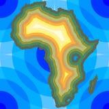 Fundo de África Imagem de Stock Royalty Free