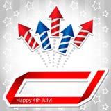 fundo de ô julho Rocket Ilustração Royalty Free