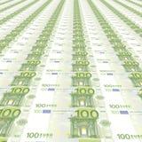 fundo de 100 euro Fotografia de Stock