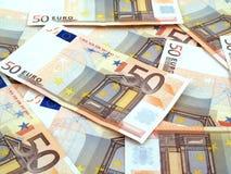 fundo de 50 euro Imagens de Stock
