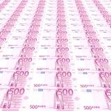 fundo de 500 euro Fotografia de Stock