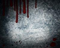 Fundo de aço com gota de sangue Foto de Stock Royalty Free