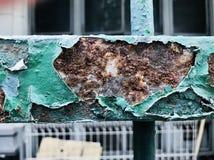 Fundo de aço da cerca da oxidação fotografia de stock