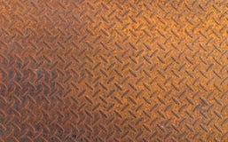 Fundo de aço da textura do metal oxidado velho Fotografia de Stock