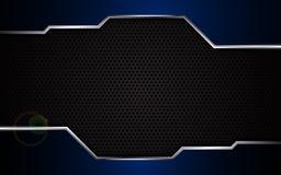 Fundo de aço do molde do projeto da textura do quadro metálico azul abstrato ilustração do vetor